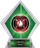 "2"" Legacy Baseball Green Diamond Ice Trophy"