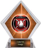 "2"" Legacy Baseball Orange Diamond Ice Trophy"