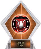 "2"" Legacy Baseball Orange Diamond Ice Trophy"