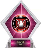 "2"" Legacy Baseball Pink Diamond Ice Trophy"