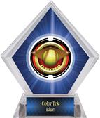 "2"" Saturn Softball Blue Diamond Ice Trophy"