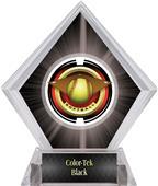 "2"" Saturn Softball Black Diamond Ice Trophy"