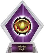 "2"" Saturn Softball Purple Diamond Ice Trophy"