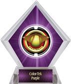 "2"" Saturn Softball Purple Diamond Ice Trophy"