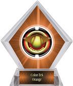 "2"" Saturn Softball Orange Diamond Ice Trophy"