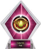 "2"" Saturn Softball Pink Diamond Ice Trophy"
