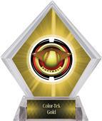 "2"" Saturn Softball Yellow Diamond Ice Trophy"
