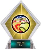 Americana Softball Yellow Diamond Ice Trophy
