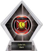 "2"" Legacy Softball Black Diamond Ice Trophy"