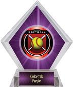 "2"" Legacy Softball Purple Diamond Ice Trophy"
