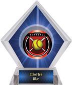 "2"" Legacy Softball Blue Diamond Ice Trophy"