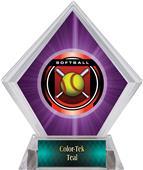Awards Legacy Softball Purple Diamond Ice Trophy