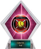 Awards Legacy Softball Pink Diamond Ice Trophy