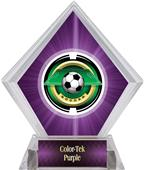 "2"" Saturn Soccer Purple Diamond Ice Trophy"