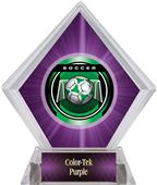 "2"" Legacy Soccer Purple Diamond Ice Trophy"