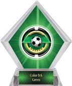 "2"" Saturn Soccer Green Diamond Ice Trophy"