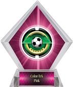 "2"" Saturn Soccer Pink Diamond Ice Trophy"