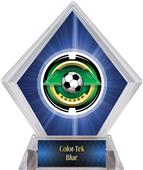 "2"" Saturn Soccer Blue Diamond Ice Trophy"