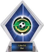 "2"" Saturn Soccer Blue Diamond Ice Trophy"