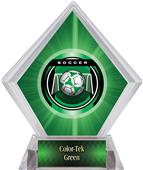 "2"" Legacy Soccer Green Diamond Ice Trophy"
