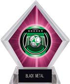 "2"" Legacy Soccer Pink Diamond Ice Trophy"