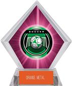 "2"" Legacy Soccer Pink Diamond Ice Trophy"