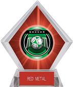 "2"" Legacy Soccer Red Diamond Ice Trophy"