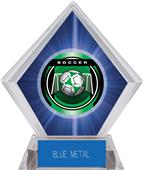 "2"" Legacy Soccer Blue Diamond Ice Trophy"