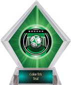 Awards Legacy Soccer Green Diamond Ice Trophy