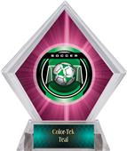 Awards Legacy Soccer Pink Diamond Ice Trophy