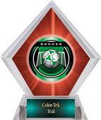 Awards Legacy Soccer Red Diamond Ice Trophy