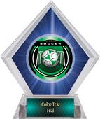 Awards Legacy Soccer Blue Diamond Ice Trophy