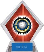 """2"""" Saturn Volleyball Red Diamond Ice Trophy"""