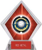 "2"" Saturn Volleyball Red Diamond Ice Trophy"