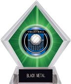 """2"""" Legacy Volleyball Green Diamond Ice Trophy"""