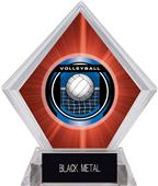 """2"""" Legacy Volleyball Red Diamond Ice Trophy"""