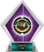 Awards Saturn Football Purple Diamond Ice Trophy