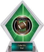 Awards Legacy Football Green Diamond Ice Trophy