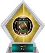 Awards Legacy Football Yellow Diamond Ice Trophy
