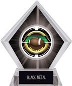 """2"""" Saturn Football Black Diamond Ice Trophy"""
