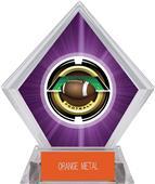 """2"""" Saturn Football Purple Diamond Ice Trophy"""