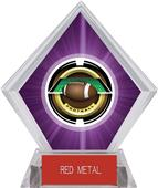 "2"" Saturn Football Purple Diamond Ice Trophy"