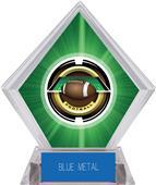"2"" Saturn Football Green Diamond Ice Trophy"