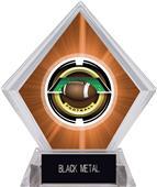 """2"""" Saturn Football Orange Diamond Ice Trophy"""