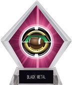 "2"" Saturn Football Pink Diamond Ice Trophy"