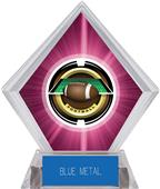 "2"" Saturn Football Pink Diamond Ice Trophy"