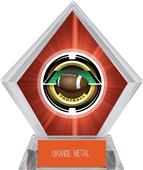 "2"" Saturn Football Red Diamond Ice Trophy"