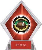 "2"" Saturn Football Red Diamond Ice Trophy"