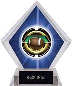 "2"" Saturn Football Blue Diamond Ice Trophy"
