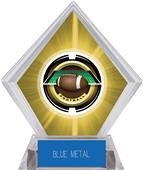 "2"" Saturn Football Yellow Diamond Ice Trophy"